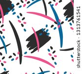 seamless modern pattern with... | Shutterstock .eps vector #1313761541