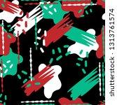 seamless modern pattern with... | Shutterstock .eps vector #1313761574
