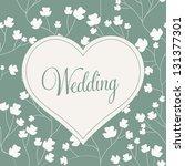 vector illustration. wedding... | Shutterstock .eps vector #131377301