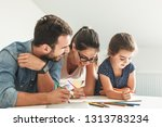 father and mother teach... | Shutterstock . vector #1313783234