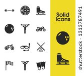 exercise icons set with aim ... | Shutterstock .eps vector #1313787491