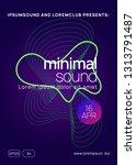 techno event. dynamic gradient... | Shutterstock .eps vector #1313791487