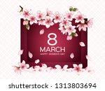 8 march happy women's day... | Shutterstock .eps vector #1313803694