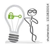 intellectual property vector... | Shutterstock .eps vector #1313820314