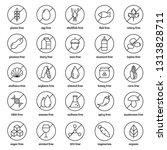 allergens line icons vector set ...   Shutterstock .eps vector #1313828711