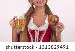 unrecognizable sexy oktoberfest ... | Shutterstock . vector #1313829491