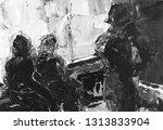 gray black and white gradient ... | Shutterstock . vector #1313833904