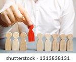 the boss dismisses the employee ... | Shutterstock . vector #1313838131
