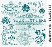 vector set  calligraphic design ... | Shutterstock .eps vector #131383865