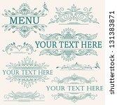 vector set  calligraphic design ... | Shutterstock .eps vector #131383871
