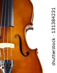close up violin on white... | Shutterstock . vector #131384231