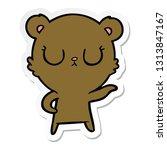 sticker of a peaceful cartoon... | Shutterstock .eps vector #1313847167