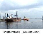 logistics and transportation of ... | Shutterstock . vector #1313850854