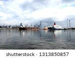 logistics and transportation of ... | Shutterstock . vector #1313850857