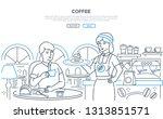 coffee   modern line design... | Shutterstock .eps vector #1313851571