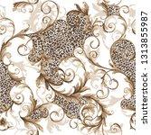 classic seamless baroque pattern | Shutterstock .eps vector #1313855987