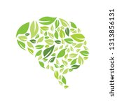 brain fresh idea green nature... | Shutterstock .eps vector #1313856131