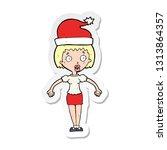 sticker of a cartoon woman... | Shutterstock .eps vector #1313864357