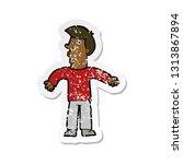 retro distressed sticker of a... | Shutterstock .eps vector #1313867894