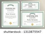 certificate template  gift... | Shutterstock .eps vector #1313875547