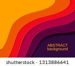 layered paper cut shapes 3d... | Shutterstock .eps vector #1313886641