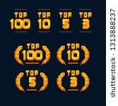 top 100  top 10  top 5  top 3.... | Shutterstock .eps vector #1313888237