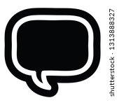 speech bubble icon symbol   Shutterstock .eps vector #1313888327