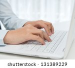 close up of human hands working ... | Shutterstock . vector #131389229