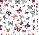 seamless pattern with... | Shutterstock .eps vector #1313893751