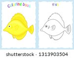 coloring book page for ... | Shutterstock .eps vector #1313903504