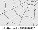 cobweb isolated on white ... | Shutterstock .eps vector #1313907887