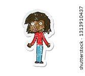 retro distressed sticker of a... | Shutterstock .eps vector #1313910437