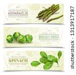 farm fresh green leafy... | Shutterstock .eps vector #1313917187