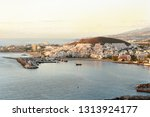 aerial view over los cristianos ... | Shutterstock . vector #1313924177