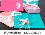 handmade greeting cards. near... | Shutterstock . vector #1313928137