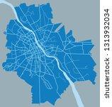 map of warsaw | Shutterstock .eps vector #1313932034