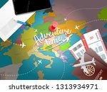 adventure timel. vacation... | Shutterstock . vector #1313934971