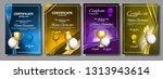 volleyball game certificate... | Shutterstock .eps vector #1313943614