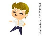 retro cartoon illustration... | Shutterstock .eps vector #1313947364