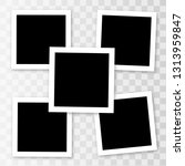 vector frames photo collage... | Shutterstock .eps vector #1313959847