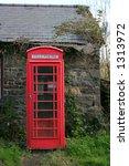 Red British Old Telephone Box...
