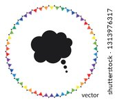 think bubbles  vector icon   Shutterstock .eps vector #1313976317