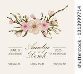 wedding invitation. beautiful...   Shutterstock .eps vector #1313999714