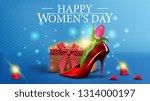 horizontal blue greeting... | Shutterstock .eps vector #1314000197