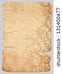 vintage old paper  vector...   Shutterstock .eps vector #131400677