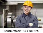Portrait Asian Engineer In...