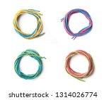 Set of colorful circle frame...