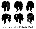 collection. silhouette of the... | Shutterstock .eps vector #1314049841