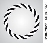 vector rope abstract circle.... | Shutterstock .eps vector #1314073964
