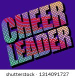 colorful cheerleader design | Shutterstock .eps vector #1314091727
